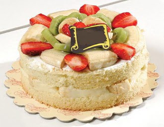 pasta siparisi 4 ile 6 kisilik karisik meyvali yas pasta  Antalya Melisa çiçek servisi , çiçekçi adresleri