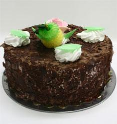 4 ile 6 kisilik yas pasta çikolatali leziz pastane ürünü  Antalya Melisa cicekciler , cicek siparisi