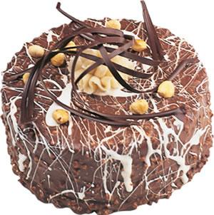 pasta satisi 4 ile 6 kisilik çikolatali yas pasta  Antalya Melisa Melisa İnternetten çiçek siparişi