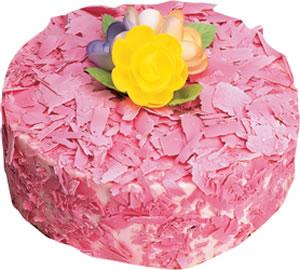 pasta siparisi 4 ile 6 kisilik framboazli yas pasta  Antalya Melisa çiçek yolla