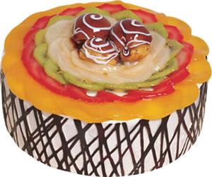 pasta siparisi 4 ile 6 kisilik meyvali yas pasta  Antalya Melisa çiçek satışı