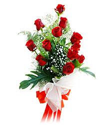 11 adet kirmizi güllerden görsel sölen buket  Antalya Melisa çiçek siparişi vermek