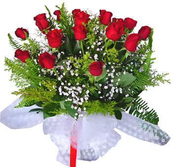 11 adet gösterisli kirmizi gül buketi  Antalya Melisa internetten çiçek satışı