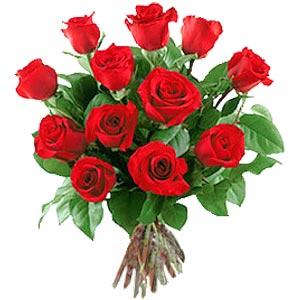 11 adet bakara kirmizi gül buketi  Antalya Melisa güvenli kaliteli hızlı çiçek