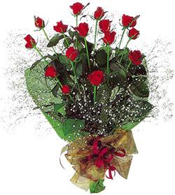 11 adet kirmizi gül buketi özel hediyelik  Antalya Melisa çiçekçi mağazası