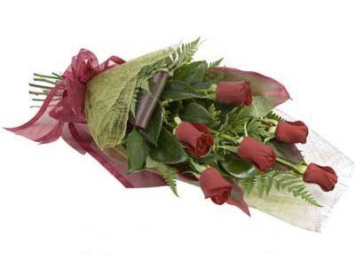 ucuz çiçek siparisi 6 adet kirmizi gül buket  Antalya Melisa çiçek siparişi sitesi