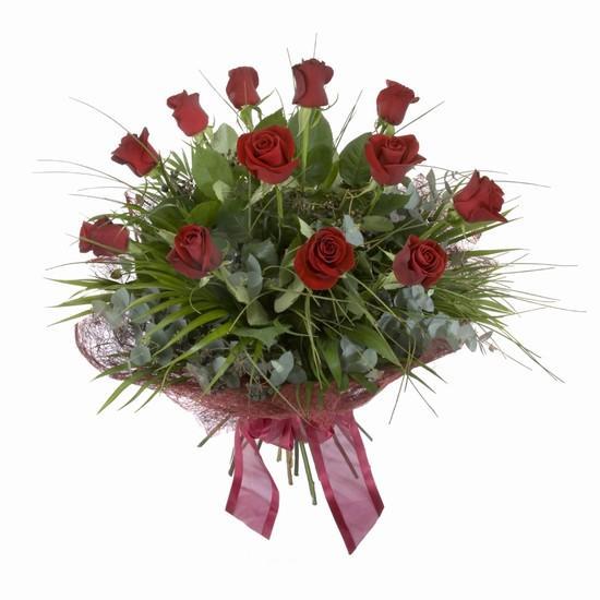 Etkileyici buket 11 adet kirmizi gül buketi  Antalya Melisa internetten çiçek satışı