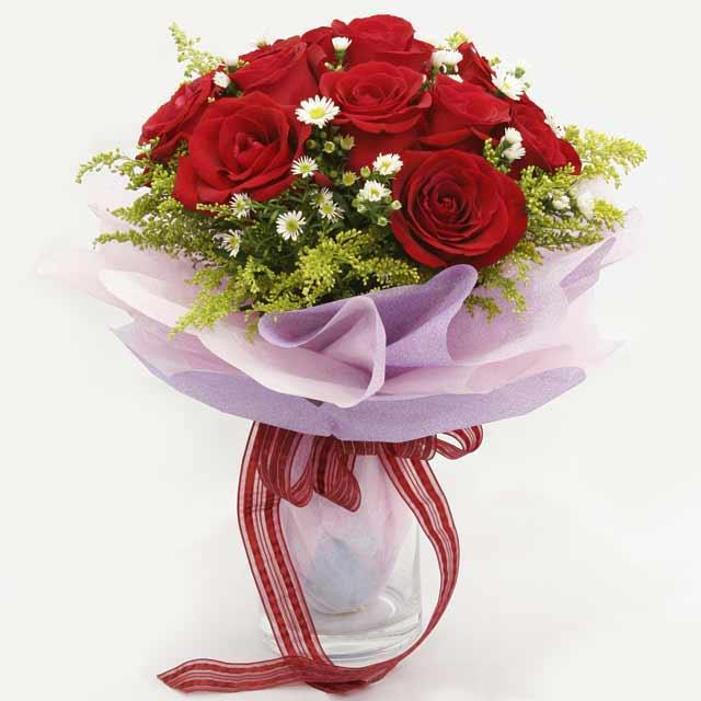 Çiçek gönderme estetikliginiz 11 gül buket  Antalya Melisa çiçekçi mağazası