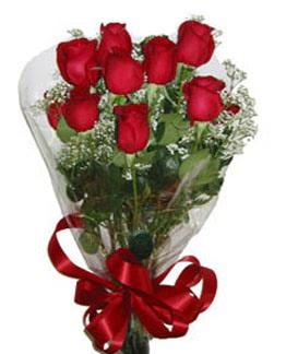 Çiçek sade gül buketi 7 güllü buket  Antalya Melisa online çiçek gönderme sipariş