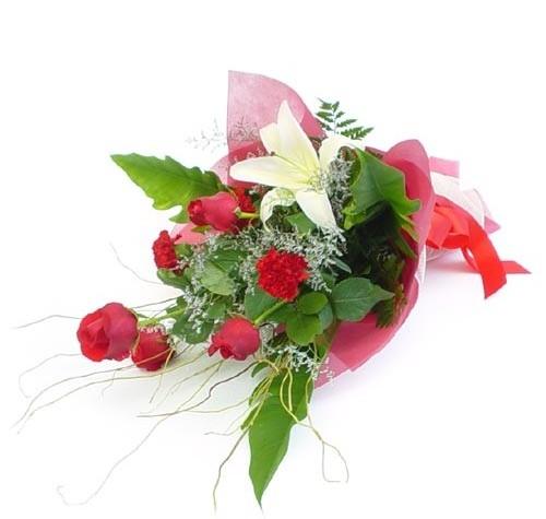 Mevsim çiçeklerinden karisik buket  Antalya Melisa cicek , cicekci