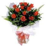Antalya Melisa çiçek , çiçekçi , çiçekçilik  9 adet güzel bir gül buketi