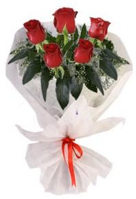5 adet kirmizi gül buketi  Antalya Melisa çiçekçiler
