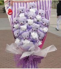 11 adet pelus ayicik buketi  Antalya Melisa çiçek gönderme sitemiz güvenlidir