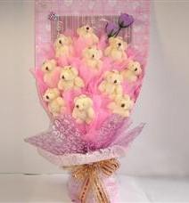 11 adet pelus ayicik buketi  Antalya Melisa çiçek yolla