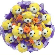 11 adet pelus ayicik buketi  Antalya Melisa çiçek mağazası , çiçekçi adresleri