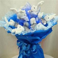 7 adet pelus ayicik buketi  Antalya Melisa çiçek , çiçekçi , çiçekçilik
