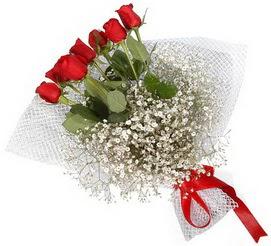 7 adet essiz kalitede kirmizi gül buketi  Antalya Melisa hediye sevgilime hediye çiçek