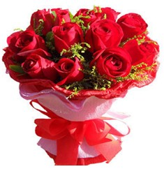 9 adet kirmizi güllerden kipkirmizi buket  Antalya Melisa çiçekçiler
