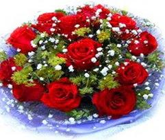 9 adet kirmizi güllerden buket  Antalya Melisa çiçekçi telefonları