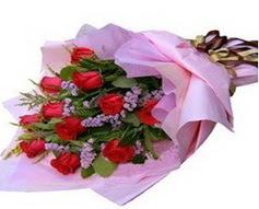 11 adet kirmizi güllerden görsel buket  Antalya Melisa çiçek gönderme sitemiz güvenlidir