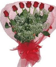 7 adet kipkirmizi gülden görsel buket  Antalya Melisa çiçek mağazası , çiçekçi adresleri