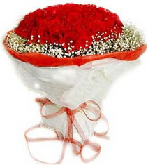 Antalya Melisa çiçekçiler  41 adet kirmizi gül buketi