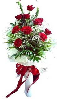 Antalya Melisa ucuz çiçek gönder  10 adet kirmizi gül buketi demeti