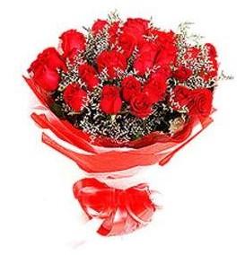 Antalya Melisa çiçek mağazası , çiçekçi adresleri  12 adet kırmızı güllerden görsel buket