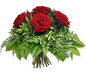 Antalya Melisa çiçek mağazası , çiçekçi adresleri  5 adet kırmızı gülden buket