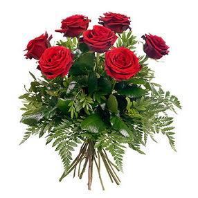Antalya Melisa online çiçek gönderme sipariş  7 adet kırmızı gülden buket