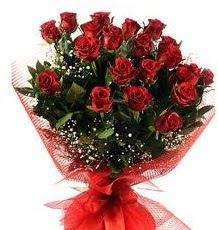 İlginç Hediye 21 Adet kırmızı gül  Antalya Melisa internetten çiçek siparişi