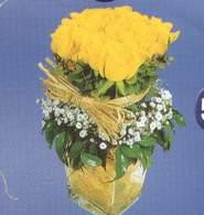 Antalya Melisa anneler günü çiçek yolla  Cam vazoda 9 Sari gül