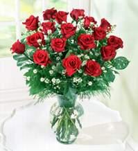 Antalya Melisa internetten çiçek satışı  9 adet mika yada vazoda kirmizi güller