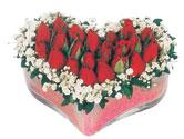 Antalya Melisa çiçekçi telefonları  mika kalpte kirmizi güller 9