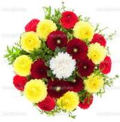 Antalya Melisa çiçekçi mağazası  13 adet mevsim çiçeğinden görsel buket