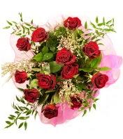 12 adet kırmızı gül buketi  Antalya Melisa 14 şubat sevgililer günü çiçek