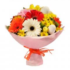 Karışık mevsim buketi Mevsimsel çiçek  Antalya Melisa internetten çiçek siparişi