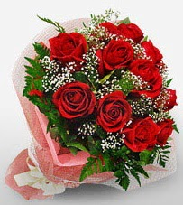 12 adet kırmızı güllerden kaliteli gül  Antalya Melisa çiçek siparişi vermek
