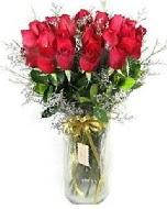 27 adet vazo içerisinde kırmızı gül  Antalya Melisa Melisa İnternetten çiçek siparişi