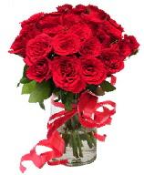 21 adet vazo içerisinde kırmızı gül  Antalya Melisa çiçek satışı