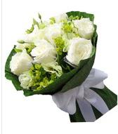 9 adet beyaz gül buketi  Antalya Melisa çiçek siparişi sitesi