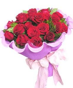 12 adet kırmızı gülden görsel buket  Antalya Melisa çiçekçi mağazası