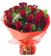 12 adet görsel bir buket tanzimi  Antalya Melisa çiçek siparişi vermek