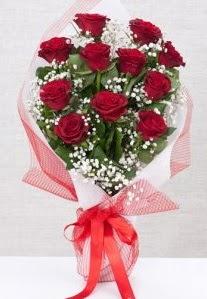 11 kırmızı gülden buket çiçeği  Antalya Melisa 14 şubat sevgililer günü çiçek