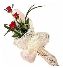 3 adet kırmızı gül buketi  Antalya Melisa güvenli kaliteli hızlı çiçek
