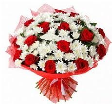 11 adet kırmızı gül ve 1 demet krizantem  Antalya Melisa çiçek mağazası , çiçekçi adresleri