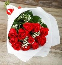 9 kırmızı gülden buket çiçeği  Antalya Melisa çiçek gönderme