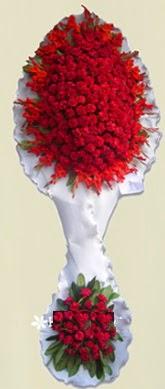 Çift katlı kıpkırmızı düğün açılış çiçeği  Antalya Melisa anneler günü çiçek yolla