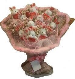 12 adet tavşan buketi  Antalya Melisa çiçek mağazası , çiçekçi adresleri