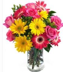 Vazoda Karışık mevsim çiçeği  Antalya Melisa çiçekçi mağazası